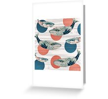 Whale and Polka Dots Greeting Card