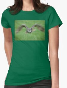 Owl on the Prowl Womens Fitted T-Shirt