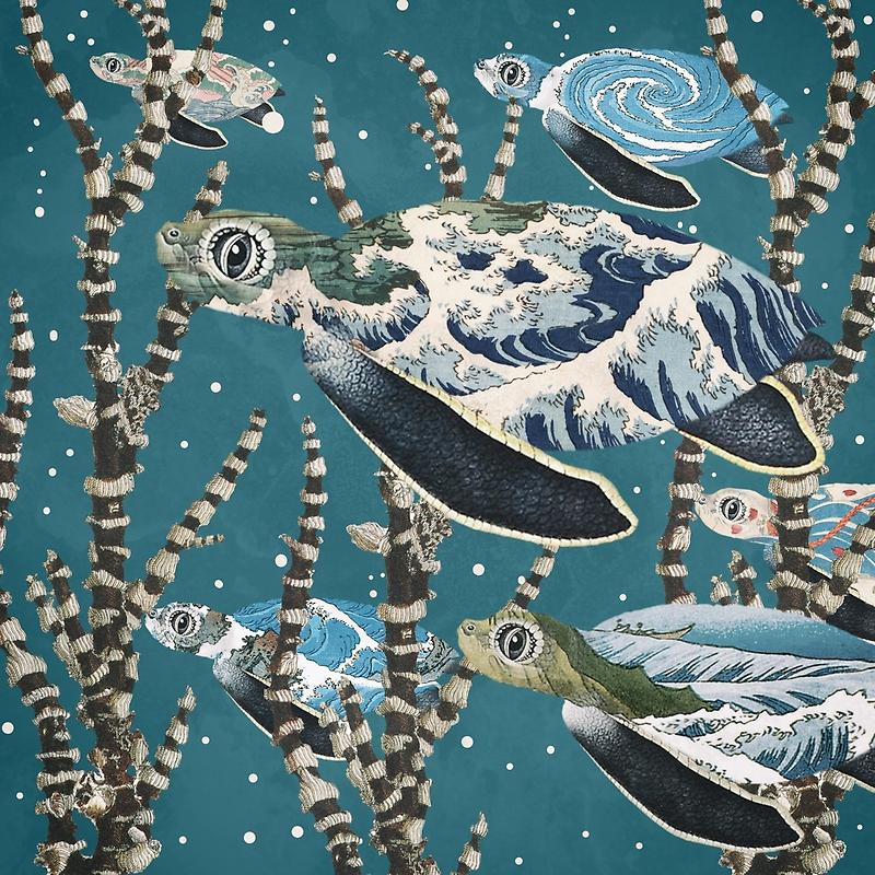 Sea Turtle Migration by Paula Belle Flores