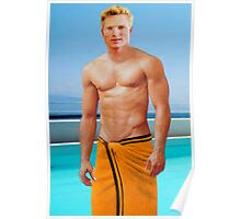 Swimmer at the pool in Rio, Brazil Poster