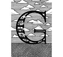 Letter G Architecture Section Alphabet Photographic Print