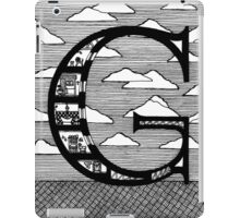 Letter G Architecture Section Alphabet iPad Case/Skin