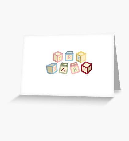 Letter Blocks Greeting Card