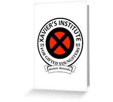 Xavier's Institute for Gifted Youngsters Greeting Card