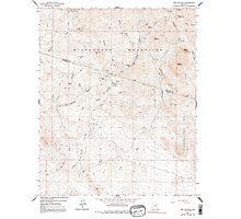 USGS TOPO Map Arizona AZ Red Picacho 313066 1964 24000 Photographic Print