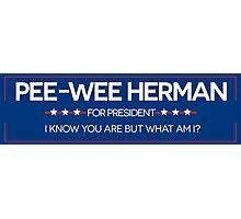 Pee-Wee For President  Photographic Print