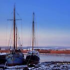 Topsham in snow by Charmiene Maxwell-batten