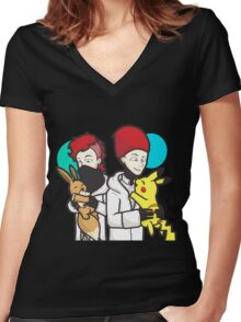 21 mashup poke Women's Fitted V-Neck T-Shirt