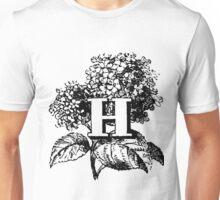 Plant Alphabet Letter H Unisex T-Shirt