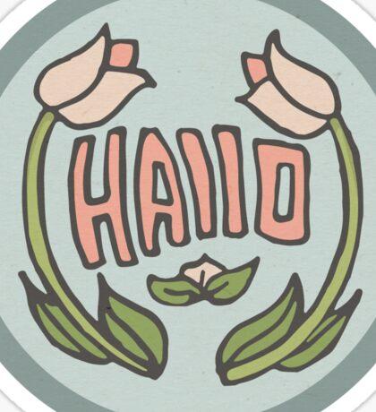 Hallo Sticker