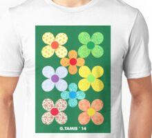 EIGHT CUT SHEET FLOWERS Unisex T-Shirt