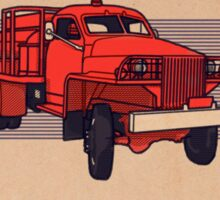Studebacker Firetruck, paper texture. Sticker