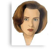 Agent Scully Metal Print