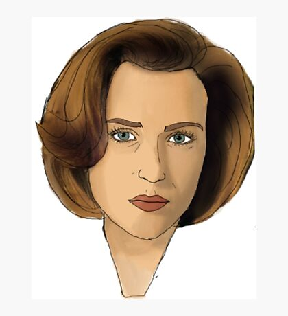 Agent Scully Photographic Print