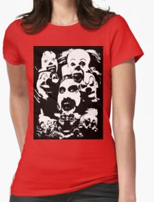 Horror Clown Icons Womens Fitted T-Shirt
