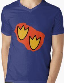 Dino Prints Mens V-Neck T-Shirt