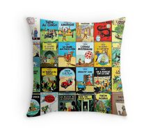 Tintin Book Covers Throw Pillow