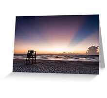 Lonely Life Guard Stand Greeting Card