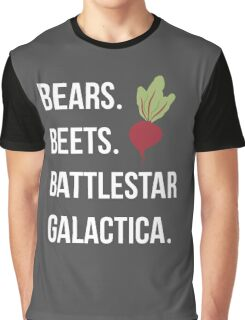 Bears Beets Battlestar Galactica - The Office Graphic T-Shirt