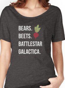 Bears Beets Battlestar Galactica - The Office Women's Relaxed Fit T-Shirt
