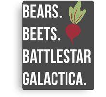 Bears Beets Battlestar Galactica - The Office Canvas Print