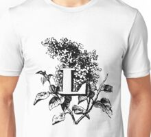 Plant Alphabet Letter L Unisex T-Shirt