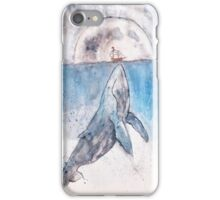 big whale or tiny boat  iPhone Case/Skin