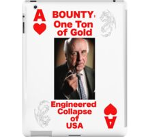 Wanted ACE of HEARTS iPad Case/Skin