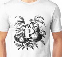 Plant Alphabet Letter P Unisex T-Shirt