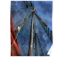 Aboard a tall ship Poster
