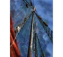 Aboard a tall ship Photographic Print
