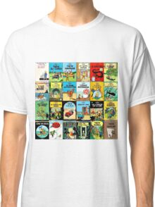 Tintin Book Covers Classic T-Shirt