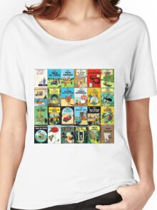 Tintin Book Covers Women's Relaxed Fit T-Shirt