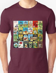 Tintin Book Covers Unisex T-Shirt