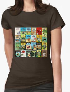 Tintin Book Covers Womens Fitted T-Shirt