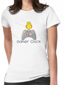 Gamer Chick With Hearts With Black Text (Clothing & Sticker ) T-Shirt
