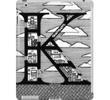 Letter K Architecture Section Alphabet iPad Case/Skin