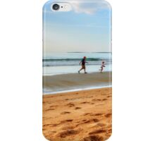 A race against the waves..... iPhone Case/Skin
