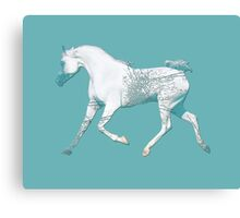 Pastel Horse ( Blue ) Canvas Print