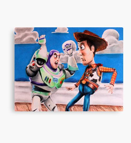 Woody and Buzz Canvas Print