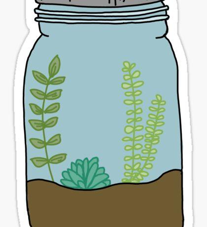 mason jar succulent plants  Sticker