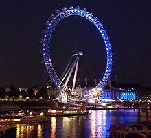 London Eye By Night by Neil Evans