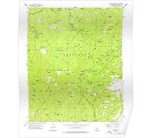 USGS TOPO Map Arizona AZ Groom Creek 311591 1974 24000 Poster