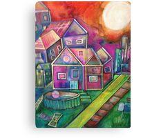 City neighborhood Canvas Print