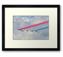God Save Our Queen-   Red Arrows. Framed Print