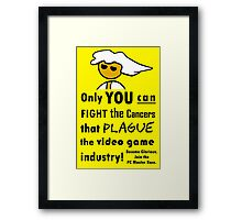 The Gaming Industry Needs Our Help - Gamer Master Funny Geek Meme Framed Print
