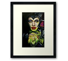 Angelina Jolie as Maleficent Framed Print