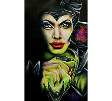 Angelina Jolie as Maleficent Photographic Print