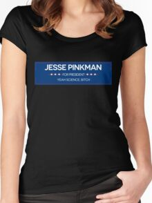 JESSE PINKMAN FOR PRESIDENT Women's Fitted Scoop T-Shirt