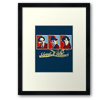 Sherlock Trilogy - X3 Red/Blue Framed Print